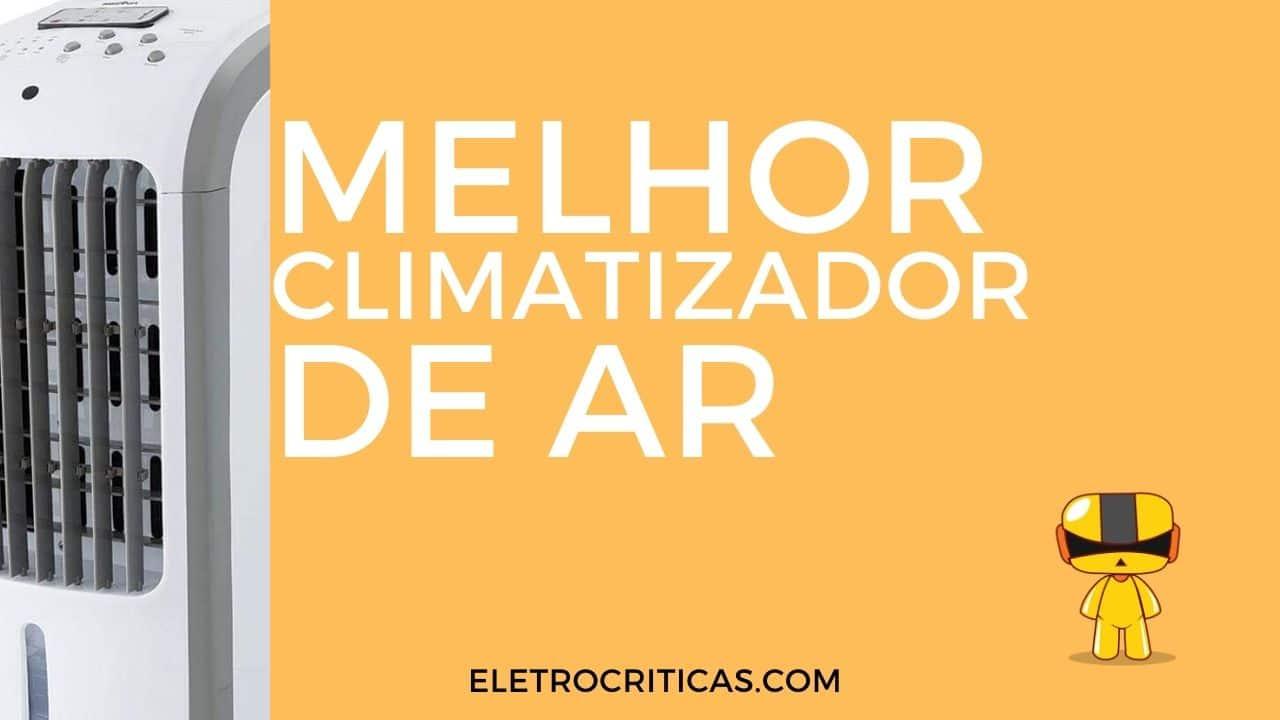 melhor climatizador de ar com fundo laranja