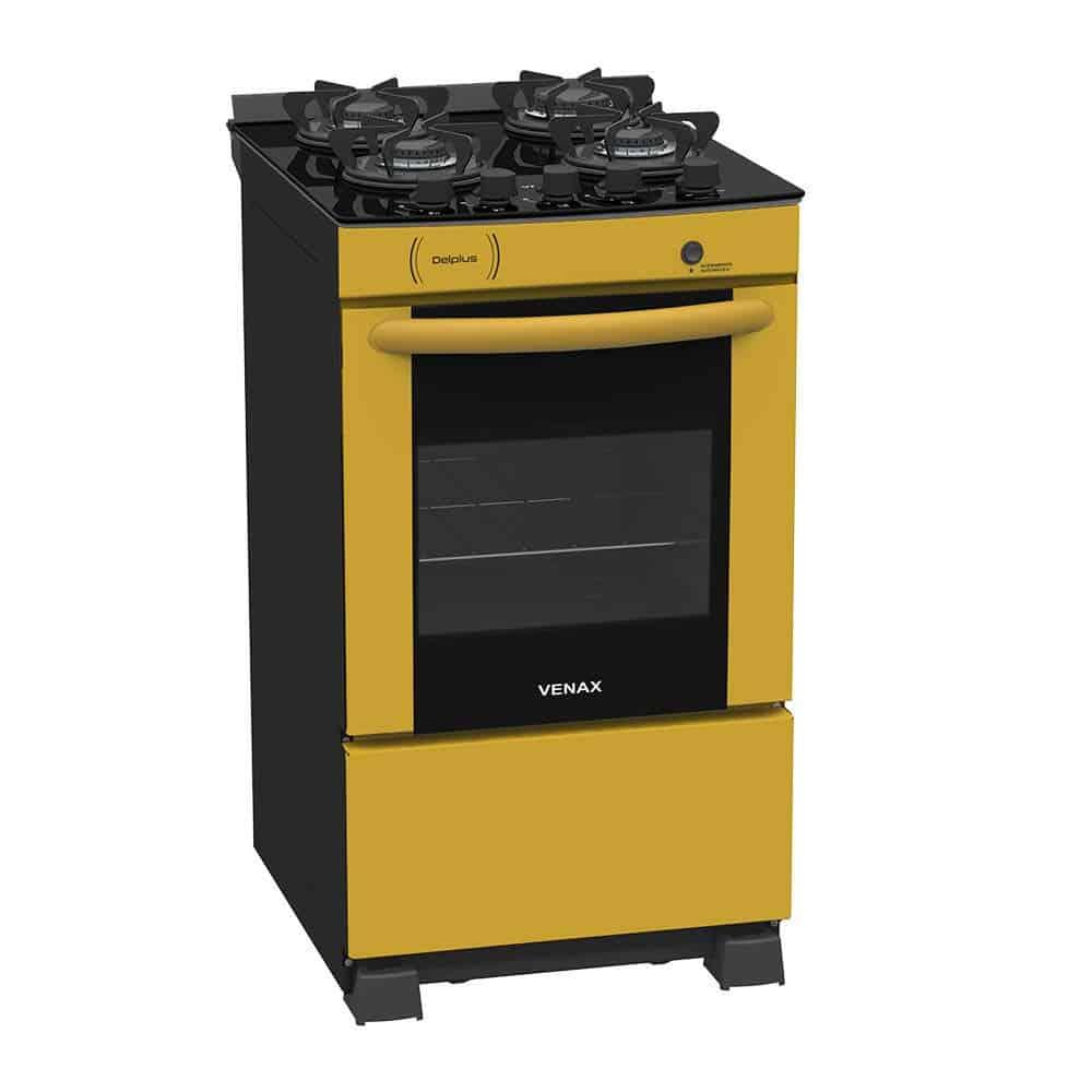 fogão colorido amarelo