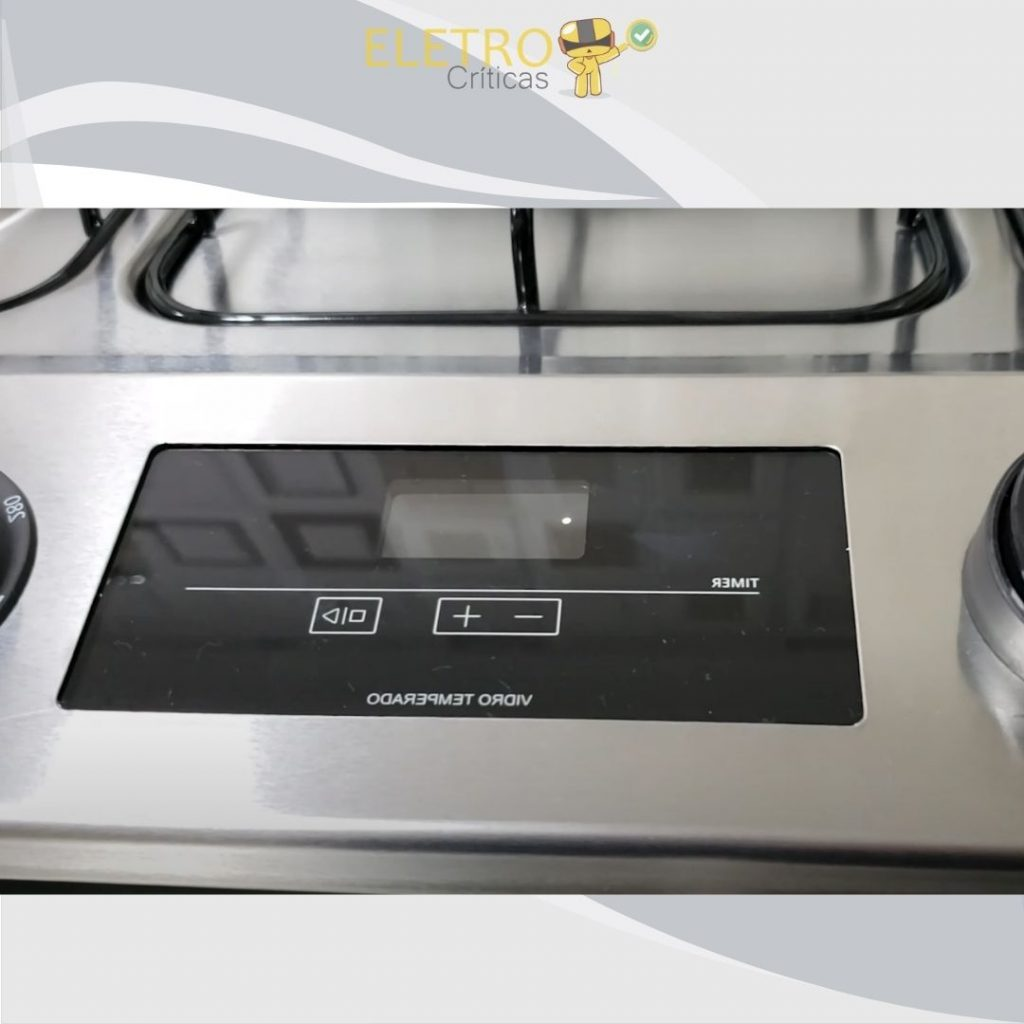 touch timer do fogão brastemp