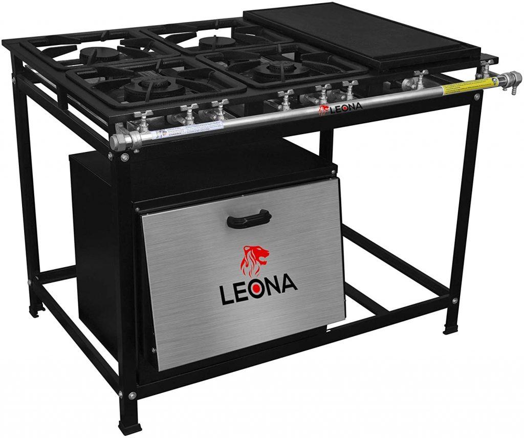 foto do modelo Leona da Cristal Aço com 04 queimadores