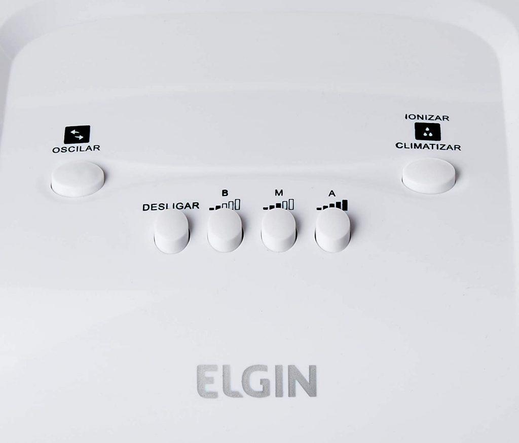 Botões do climatizador da elgin