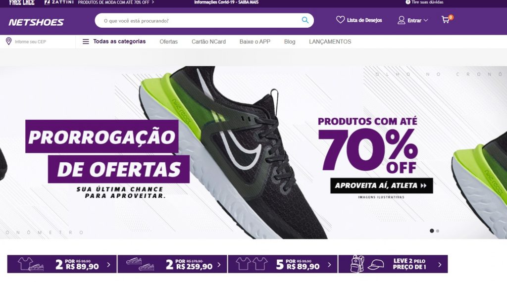 foto do site da netshoes