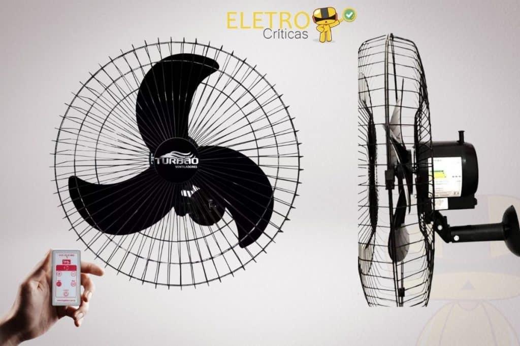 Ventilador de Parede Oscilante 60cm Preto Turbão