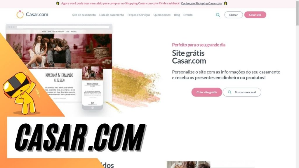 foto do site casar.com